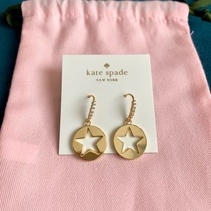 NWT 12k gold plated Kate star earrings w crystal